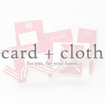 card + cloth
